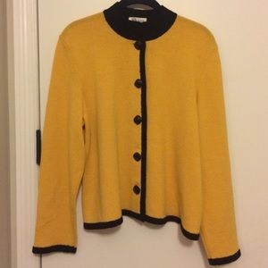 Vintage Cardigan w Faux Onyx Buttons